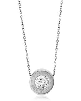 Brilliance Stainless Steel And Crystal Necklace