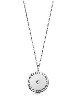 Heritage Signature Charm W/crystal Necklace