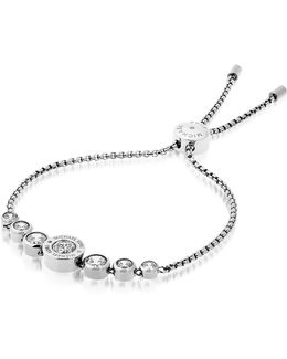 Brilliance Stainless Steel And Crystals Bracelet