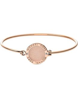 Heritage Rose Gold-tone Logo Bangle