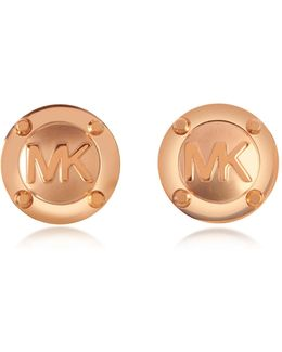 Heritage Mk Logo Stud Earrings
