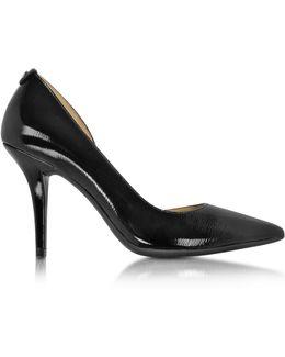 Natalie Black Patent Leather Flex High Heel Pump