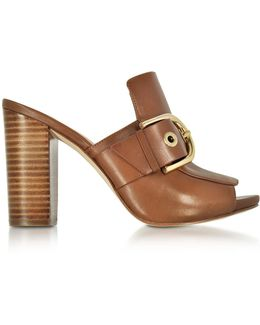 Cooper Luggage Nappa Leather High Heel Mules