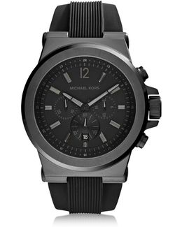 Dylan Black Stainless Steel Oversized Men's Chrono Watch