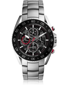 Jetmaster Silver Tone Stainless Steel Men's Chrono Watch