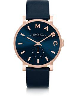 Baker Strap 36mm Navy Blue Women's Watch