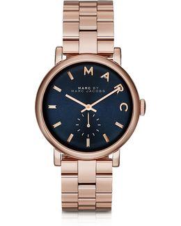 Baker Bracelet 36mm Navy Blue Dial Women's Watch