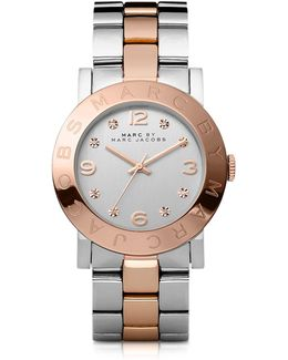 Amy 36 Mm Two Tone Stainless Steel Women's Watch