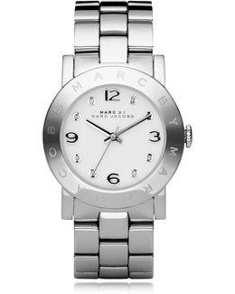 Amy 36 Mm Silver Tone Stainless Steel Women's Watch