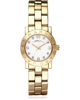 Mini Amy 26 Mm Gold Tone Stainless Steel Women's Watch