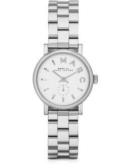 Baker 28 Mm Silver Tone Stainless Steel Women's Watch