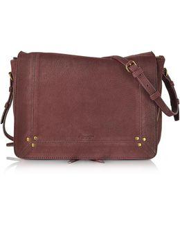 Igor Bordeaux Leather Shoulder Bag