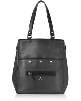 Serge Black Leathet Tote Bag