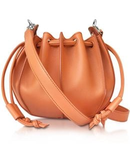 Pinch Small Leather Bucket Bag