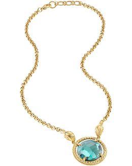 Just Queen Golden Choker W/pendant