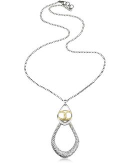 Icon Silver Pvd Drop Chain Necklace