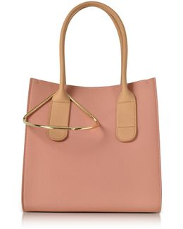 Peach And Mastic Leather Mini Weekend Bag
