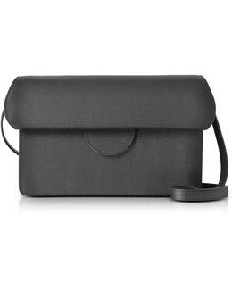 Efimia Black And Navy Leather Shoulder Bag