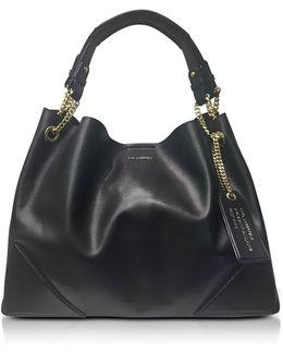 K/slouchy Black Leather Shopper Bag