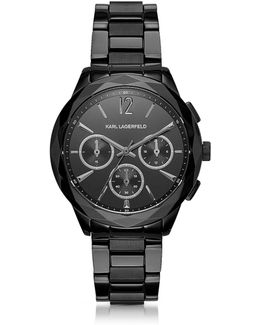 Optik Black Stainless Steel Women's Chronograph Watch