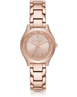 Belleville Rose Gold-tone Pvd Stainless Steel Women's Quartz Watch