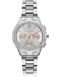 Optik Stainless Steel Women's Chronograph Watch