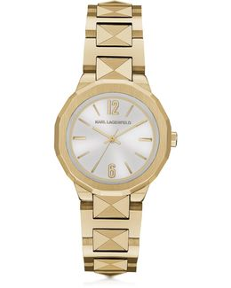 Joleigh Goldtone Iconic Women's Watch