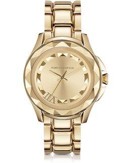 Karl 7 43.5mm Gold Ip Stainless Steel Unisex Watch
