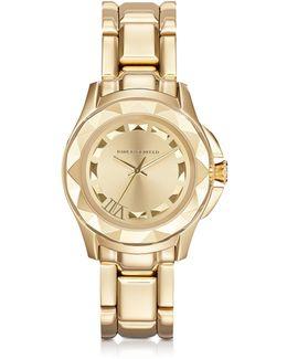 Karl 7 36 Mm Gold Ip Stainless Steel Unisex Watch