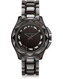 Karl 7 43.5 Mm Gunmetal Ip Stainless Steel Unisex Watch