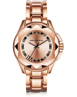 Iconic Rose Glod Stainlees Steel Unisex Watch