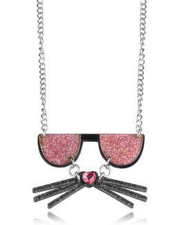 K/kocktail Necklace W/glitter Effect
