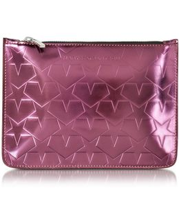 Laminated Leather Pouch W/stars