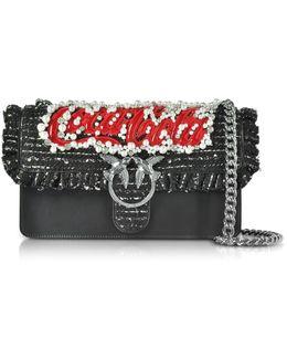 Love Anello Black Leather Shoulder Bag