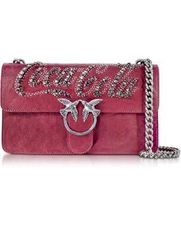 Love Trilogy Red Leather Shoulder Bag