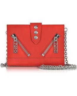 Red Gommato Leather Kalifornia Wallet W/chain Strap