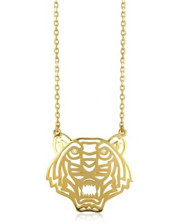 Gold Plated Tiger Necklace