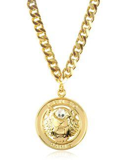 Gilt Tiger Cyclop Necklace