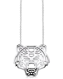 Sterling Silver Cut Out Tiger Necklace