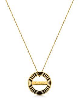 Goldtone Reversible Logo Necklace