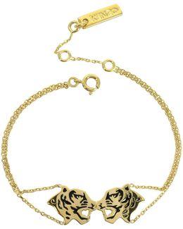 Gold Plated Tassel Tiger Bracelet