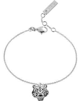 Black Lacquer Sterling Silver Mini Tiger Bracelet