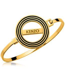 Goldtone Reversible Logo Bangle Bracelet