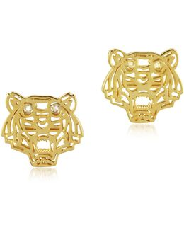 Mini Tiger Earrings