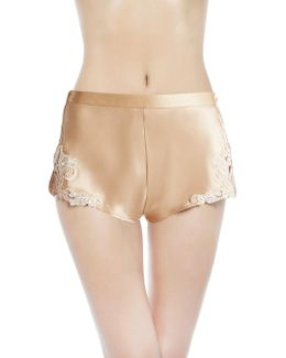 Maison Beige Satin Silk French Knickers