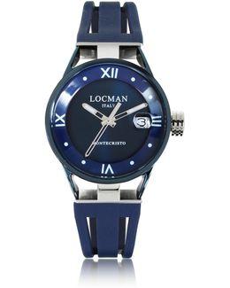 Montecristo Stainless Steel And Titanium Women's Watch W/silicone Strap