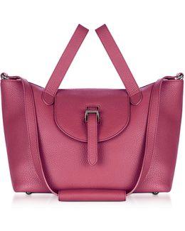 Bordeaux Leather Thela Medium Tote Bag