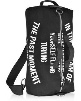Black Canvas Gym Bag