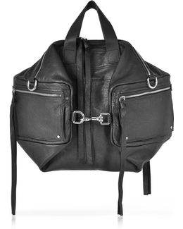 Black Leather Convertible Holdall
