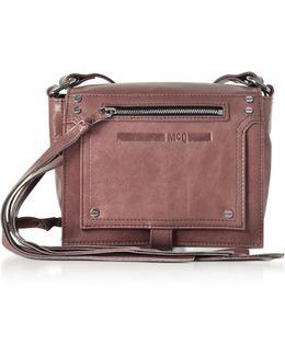 Dirty Pink Waxed Leather Mini Crossbody Bag
